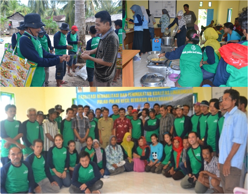 Pelatihan Mata Pencaharian Alternatif - Budidaya dan Pengolahan Rumput Laut di Pulau Kerumputan